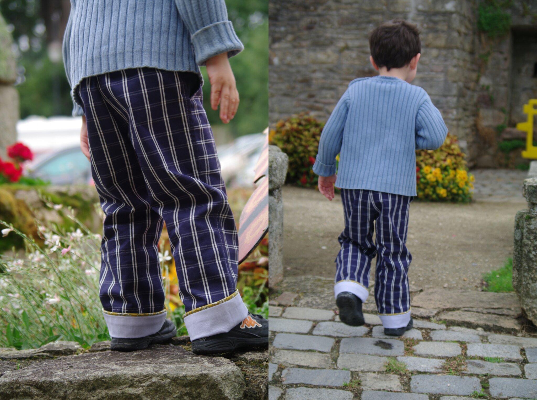 pantalon garçon passepoil