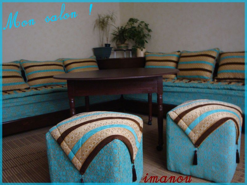 Beautiful Salon Marocain En Turquois Ideas - House Design ...