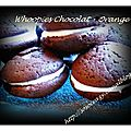 Whoopies chocolat orange