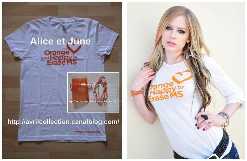 T Shirt&Bracelet Association-Orange You Happy To Erase MS