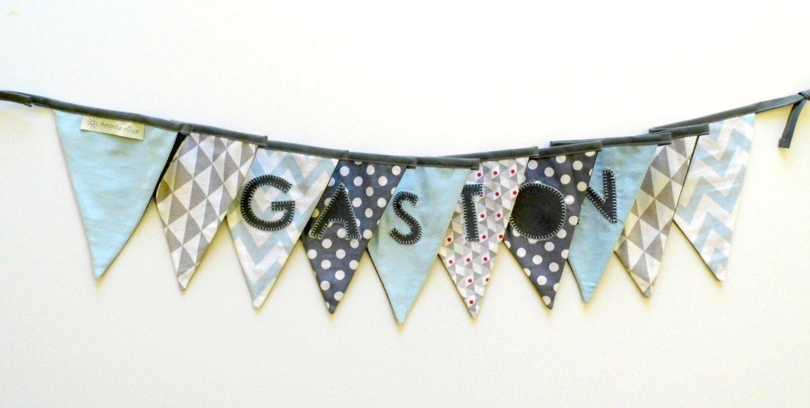 Guirlande de fanions banderolle personnalisé Gaston