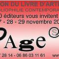 Page(s) salon du livre d'artiste - 27, 28, 29 novembre 2015 - paris