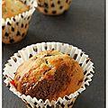 Muffins marbré à la vanille et au chocolat noir fondu ...