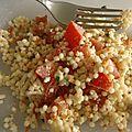 Salade de pâtes perles au surimi ww