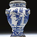 A rare blue and white jar for the portuguese market, ming dynasty, circa 1610-1630