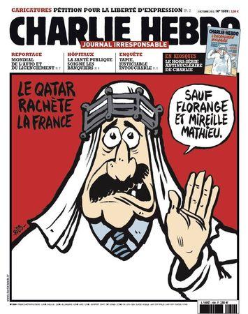 Florange, Les Unes de Charlie Hebdo, Mireille Mathieu, Qatar 1059 une