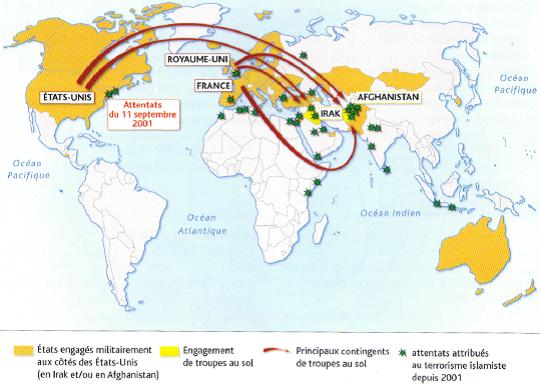 carte terrorisme et US