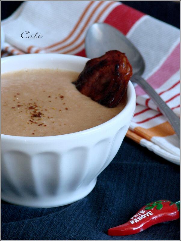 Soupe de Haricots Blancs, Chorizo & Piment d'Espelette 001