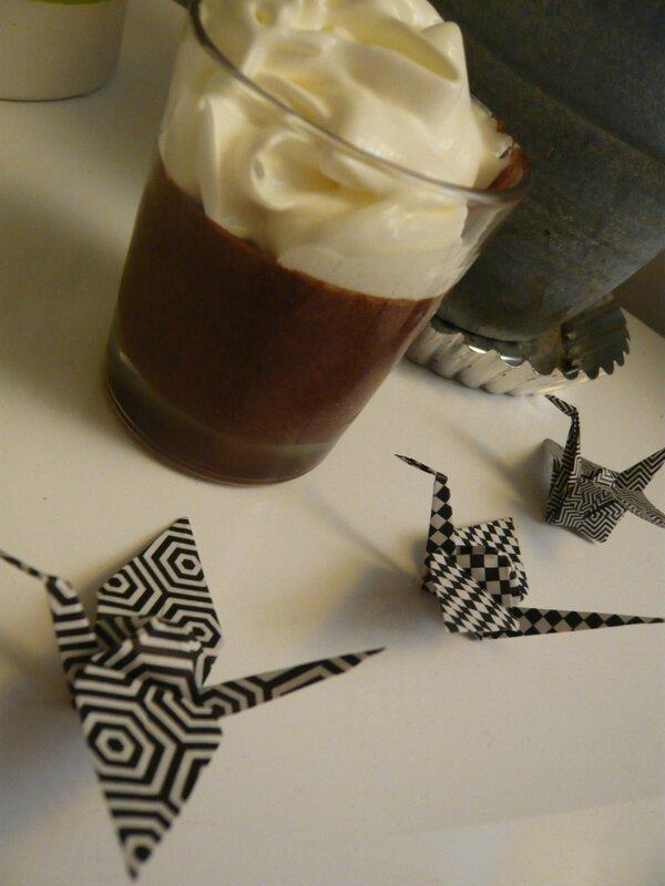 mousse chocolat carambar 2 blancs oeufs grues origami