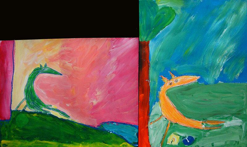 loup peinture 4