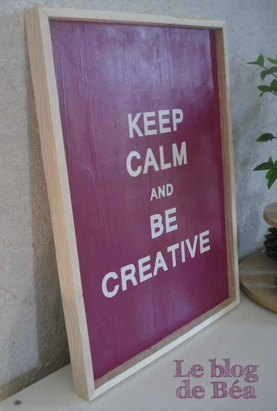 DIY tableau keep calm