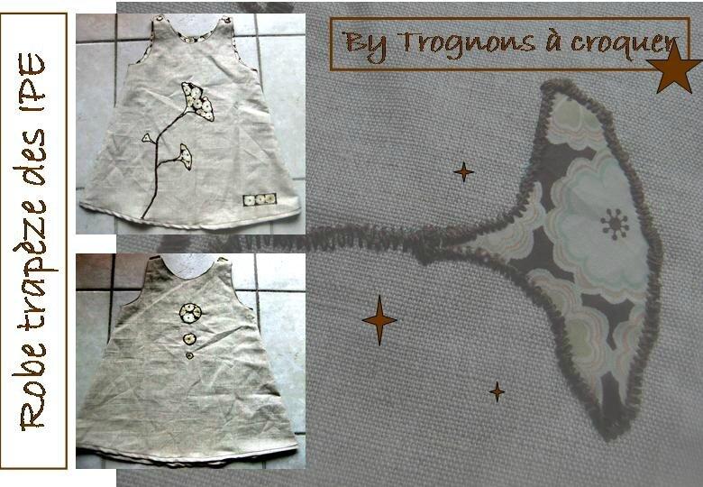 Robe trapèze des IPE fleur jap