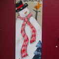"""Toile de bienvenue """"bonhomme de neige"""""""