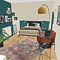 Projet client: une chambre masculine à l'ambiance feutrée