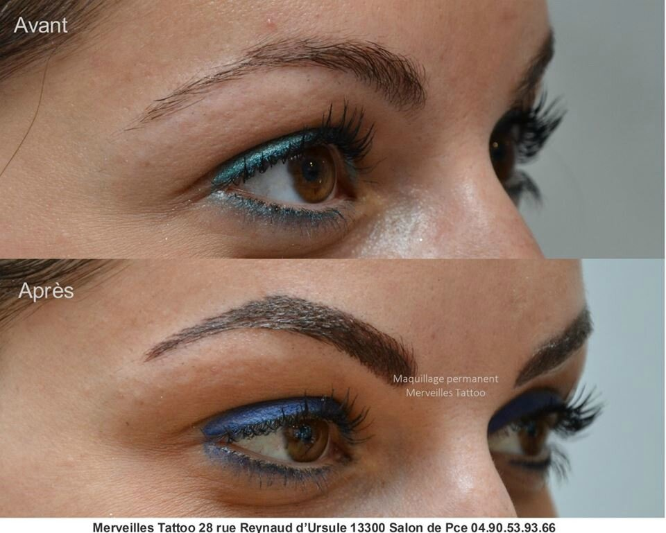 maquillage permanent des sourcils m thode poil poil r alis par vanessa merveilles tattoo. Black Bedroom Furniture Sets. Home Design Ideas