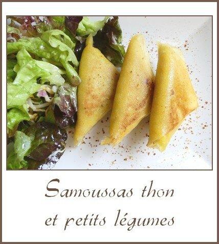 Samoussas thon et petits légumes