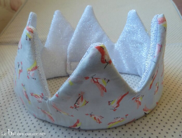 107 Blog Couronne Tissu Couture Princesse Déguisement Oiseaux