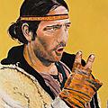 Vendeur de marrons espagnol - pastelcard 30 x 40 cm