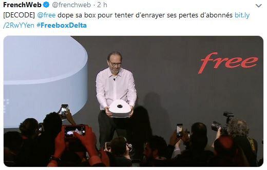 """Nouvelle freebox """"Delta pour ou contre ? le 06 12 2018"""