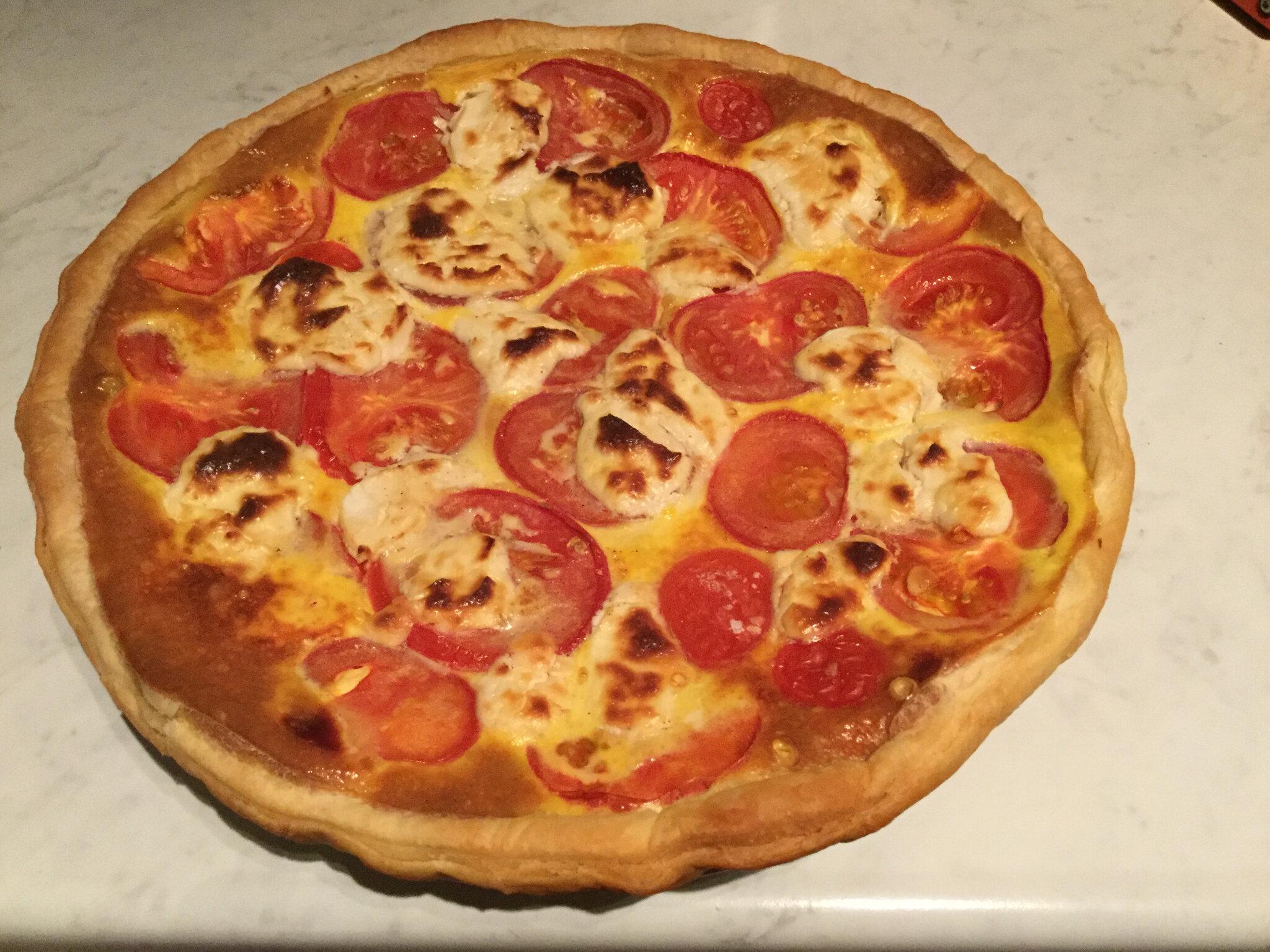 Tarte tomate chèvre