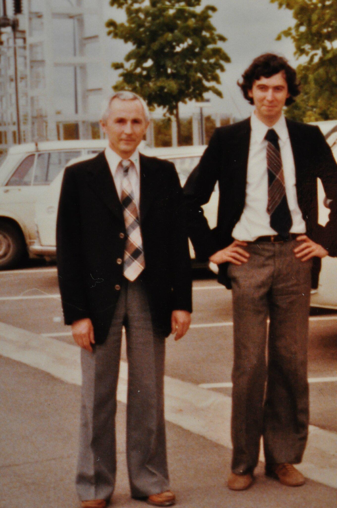Marcel Nourris et Jean-Michel Tesseron à la Direction des Etudes et Recherches d'EDF vers 1978