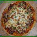 Pizza coppa - poivrons- champignons