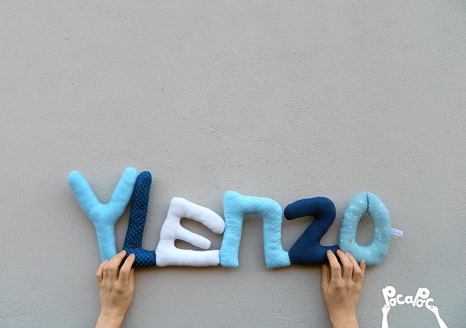 ylenzo,mot en tissu,mot decoratif,cadeau de naissance,decoration chambre d'enfant,cadeau personnalise,cadeau original,poc a poc blog
