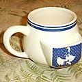 Ça vous dirait, un petit thé dans un mug ?