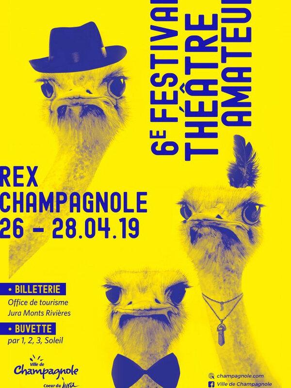 Affiche 6e festival de théâtre amateur