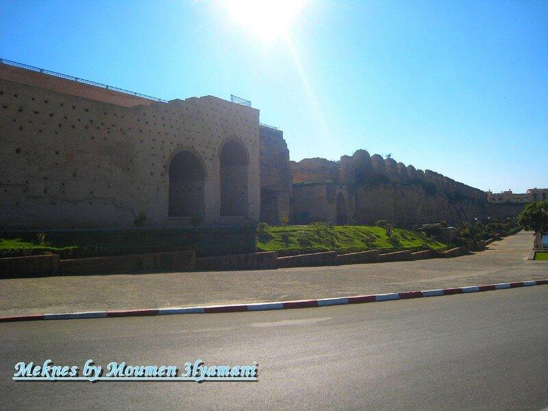 Promenade au bord du Bassin swani Meknes