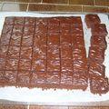 Brownies glacés au chocolat