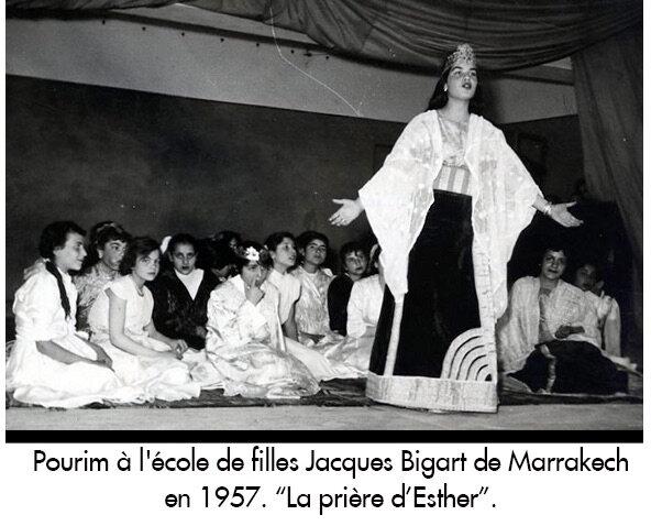 Pourim-ecole-filles-Bigart-1957-priere-Esther