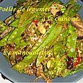 Poêlée de légumes à la chinoise