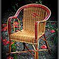 fauteuil ancien en rotin