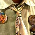 portrait sur badge , new york city, usa