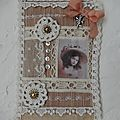 Carte couture shabby-vintage