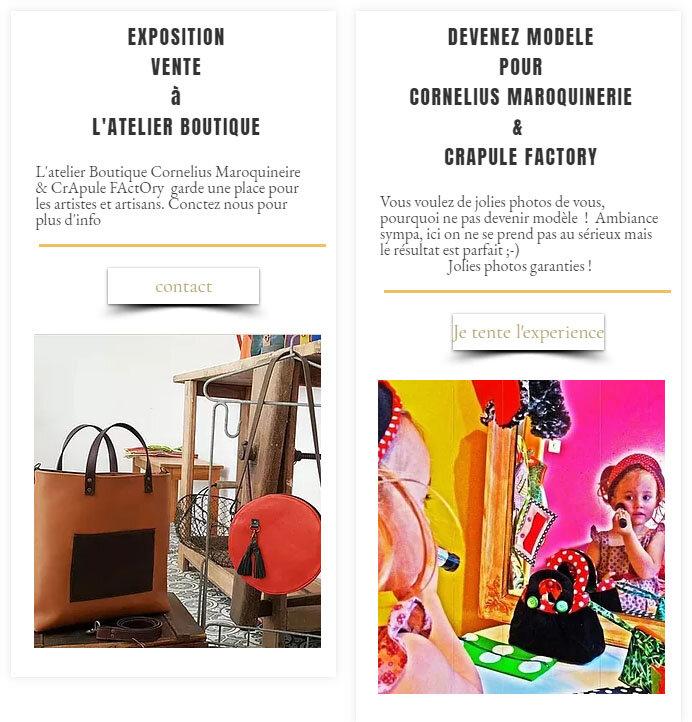 exposez vos créations à l'atelier boutique CrApule FActOry & Cornélius Maroquinerie - boutique artisanale d'art à Belley - bugey sud tourisme - avec Stéphanie ERLICH-MAUJEAN DEVENeZ MODELE SHOOTING, jolie photo, collection