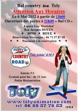 affiche bal 6 Mai 2012bis avec TOLY au 09 04 2012