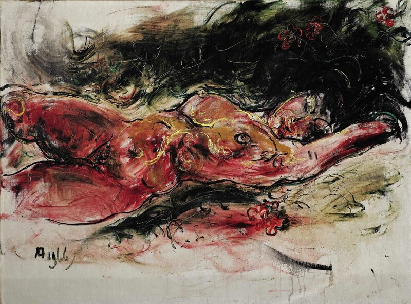 Affandi_Reclining Nude (Custom)