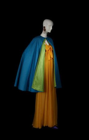 Yves_Saint_Laurent__Long_evening_dress_yellow_draped_chiffon