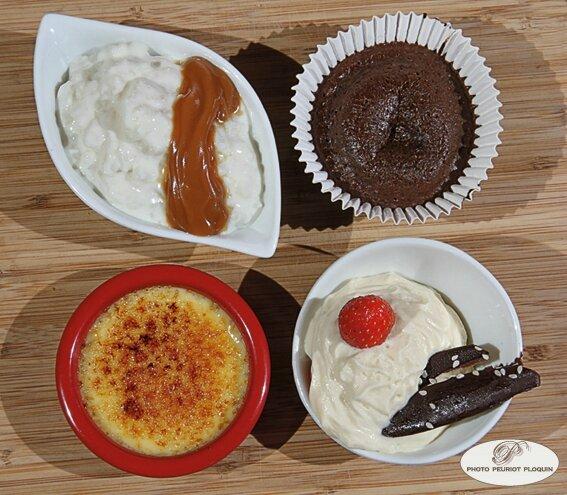 Les_P_tits_desserts_Riz_au_lait_caramel_beurre_sale_Moelleux_chocolat_Creme_brulee_a_l_orange_Fraises_au_mascarpone_et_tuile_chocolatee_La_Cage_aux_Oiseaux_a_Montjoi_82