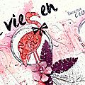 La vie en rose - denim tampons
