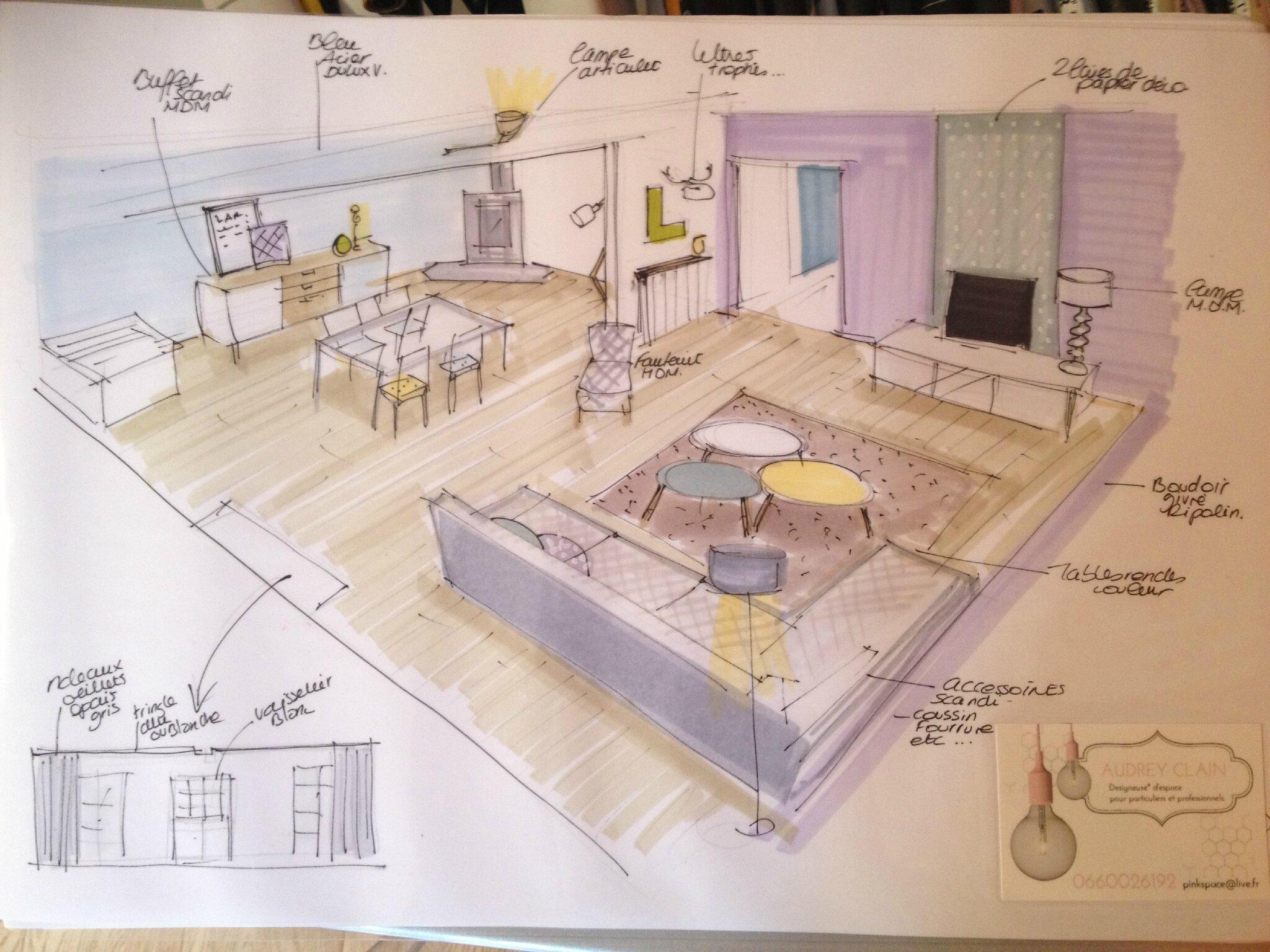 Amenagement De Salle A Manger aménagement salon / salle-à-manger - cesson (77) - pinkspace