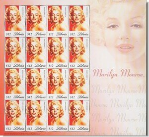 merchand_stamps_liberia_marilyn16stamps