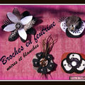Broches noires et blanches