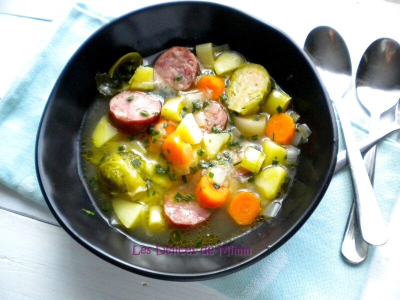 Soupe paysanne aux saucisses de Montbéliard 4