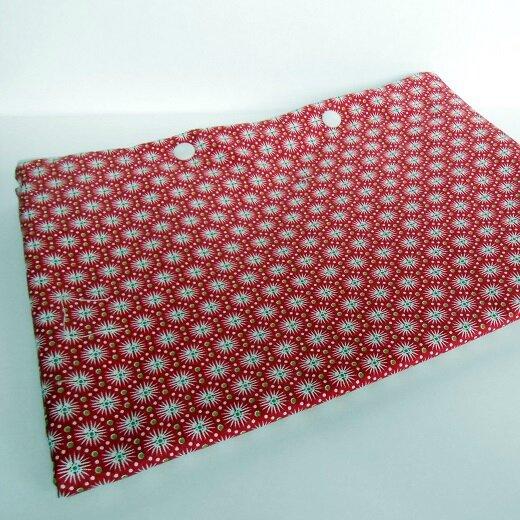 Pochette lingerie étoile blanche fond rouge