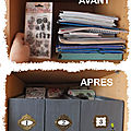 Tutoriel en images : boites de rangement pour tampons action