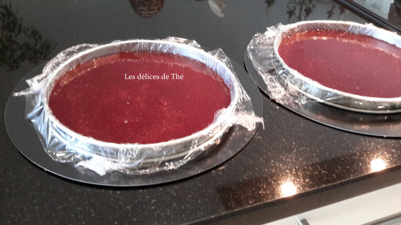 Entremet fruits rouges insert gelée framboises (8)