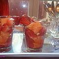 Verrine fraises, melon et sa vinaigrette douce / concour